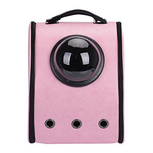 Tissu Respirant Quanjucheer Domestique Avec Demi À Transport Rose Cage Portable sphère En Animal Dos Pour Sac Fenêtre De xR47PqwR