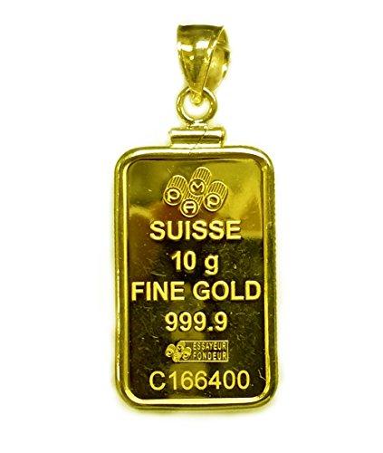 Gold Ingot Pendant - 7