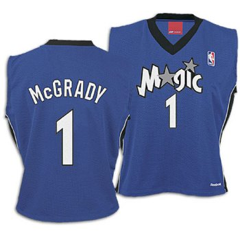Magic Reebok Women's NBA Authentic Jersey ( sz. XL, Blue : McGrady, Tracy : #1: Magic ) ()