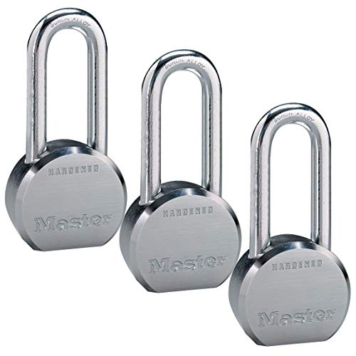 (Master Lock - (3) High Security Pro Series Keyed Alike Padlocks 6230NKALH-3 w/ BumpStop Technology	)