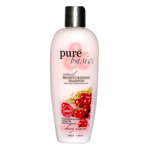 Pure and Basic Moisturizing Natural Conditioner, Cherry Almond, 12 Fluid Ounce