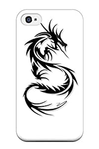 Iphone High Quality Tpu Case/ Dragon Symbol QGsTCsE10358yOrKi Case Cover For Iphone 4/4s