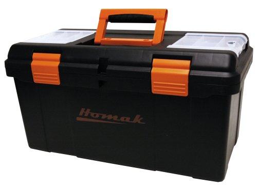 HOMAK BK00122006 22-Inch Black Plastic Tool Box]()