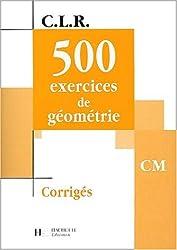 500 exercices de géométrie CM. : Corrigés