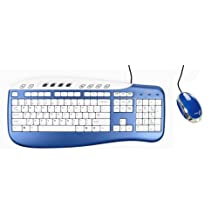 SAITEK PK09AUB USB KEYBOARD & MOUSE COMBO (BLUE)