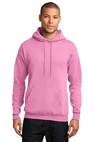 Port Company Classic Pullover Hooded Sweatshirt. - Medium - Candy Pink