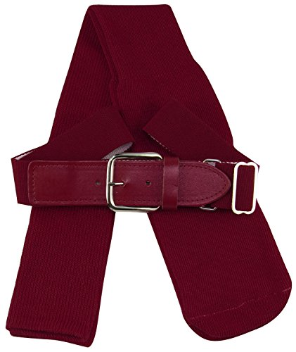 TCK Sports Youth Baseball Socks and Belt Combo Set (Maroon, Small)