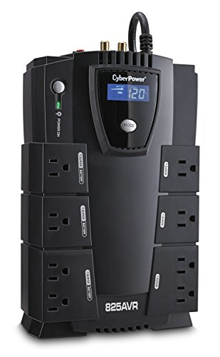 CyberPower CP825AVRLCD Intelligent LCD UPS System, 825VA/450