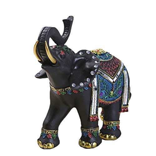 Vosarea 3 unids Crystal Rhinestone Figuras de Elefante Adornos Resina Estatua de Elefante Decoración de Mesa