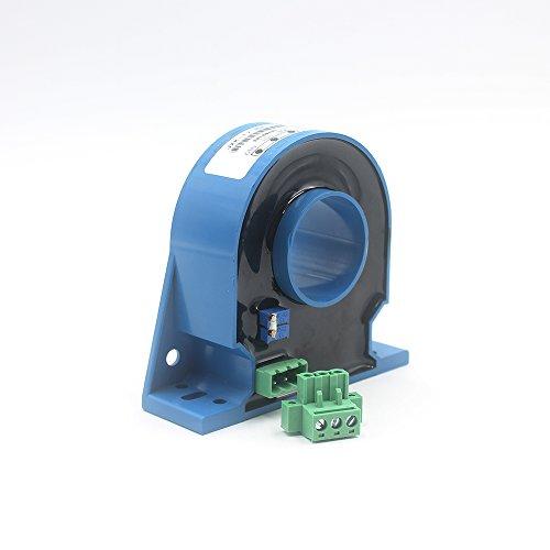 JXK-17 Hall Effect Current Sensor Open Loop Current Transmitter Measuring DC AC and Pulse Current,Input 0-100A,Output 4~20mA,24V Power Supply