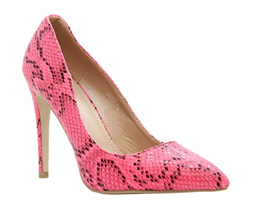 Snake Rose femme Escarpins Print Pink Saute Styles tSqZnwxP