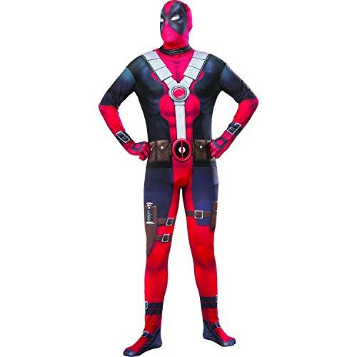Marvel Men's Deadpool 2nd Skin Costume, Multi, Standard (Buy Deadpool Costume)