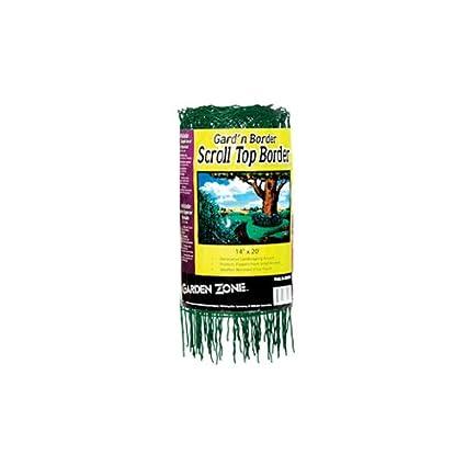 Amazon.com : Garden Zone 331420 Scroll Top Rolled Garden Border, 14 ...