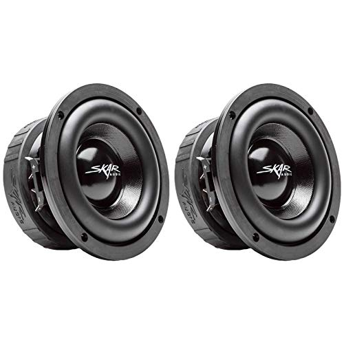 (2) Skar Audio EVL-65 D4 6.5″ 400 Watt Max Power Dual 4 Ohm Car Subwoofers, Pair of 2, BNDLE-EVL-65D4x2