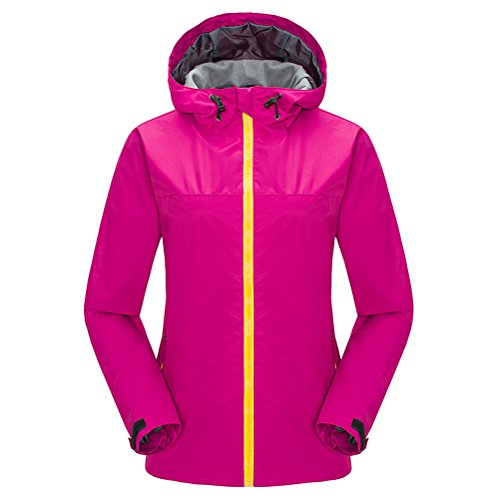 Zhhlaixing Hot Women Fashion Al aire libre Jacket Windproof Camping Hiking Sports Coat Rose Red