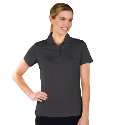 Monterey Club Dry Swing Pique Short Sleeve Solid Polo #2060 (Black, 2X-Large) (Shirt Womens Tournament Golf Polo)