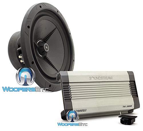 """pkg Precision Power P.15D2 15"""" 900W RMS Dual 2-Ohm Power Class Series Subwoofer + Soundstream TN1.2000D Monoblock 2000W Class D Full Subwoofer Amplifier"""