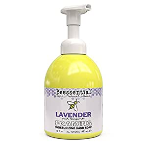Beessential Foaming Moisturizing Hand Soap, Lavender And Bergamot, 16 Ounce