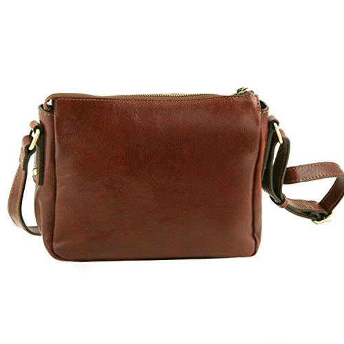 Tuscany pelle Leather Michela Tuscany Miele Leather Rosso in Tracollina Yt5qtEZxw