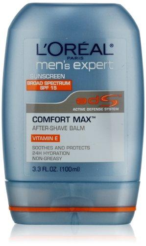 Expert Confort de L'Oréal Paris Men Max SPF 15 Anti-Irritation Baume Après-rasage, 3,3 Fluid Ounce