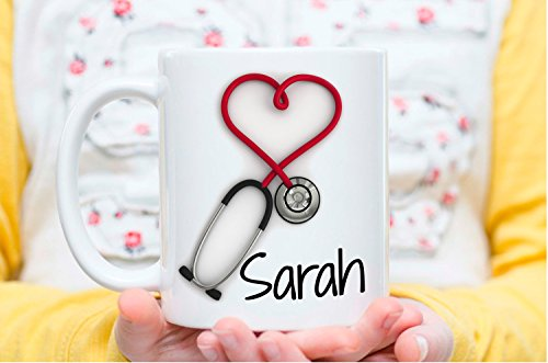 Customized Stethoscope Coffee Mug