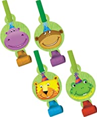 Creative Converting Jungle Buddies Party Blowouts with Medallions