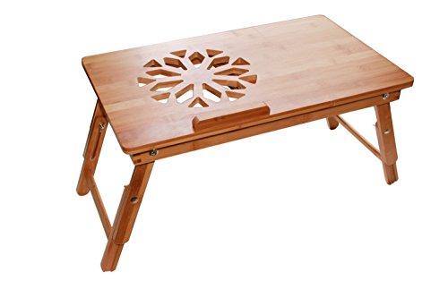 beautyriver grande derecha de izquierda Handed computadora del computadora portátil bandeja de cama de bambú inclinable cajón superior