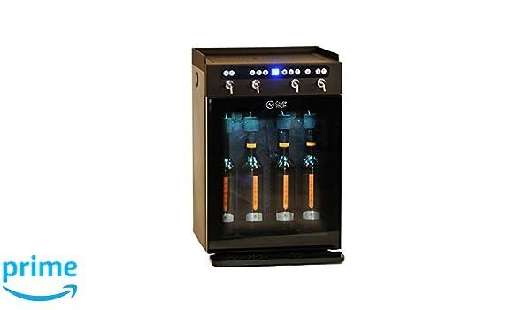 Cavevinum Dispensador y Preservador de Vino Tinto, Acero Inoxidable, Negro, 42x38x62.5 cm: Amazon.es: Hogar