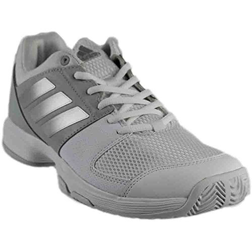 adidas Women's Shoes | Barricade Court Tennis White/Metallic Silver/Medium Grey Heather (11 M US)