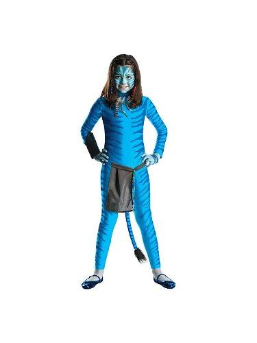 Girls Avatar Blue Jumpsuit Neytiri Kids Halloween Costume (Avatar Halloween Costumes)