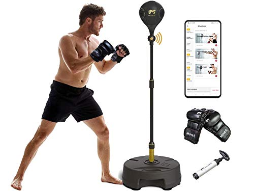 Move It Smart Punching Bag Freestanding Reflex Boxing Ball With Bluetooth Sensor-Adjustable Height(52.7-68In) for…