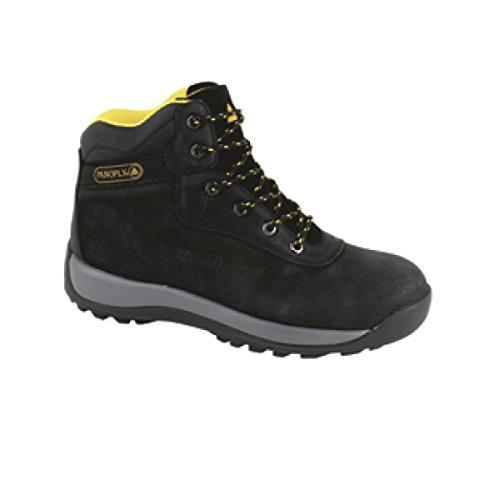Deltaplus Men's Nubuck Leather Hiker Boot US Size 13 Black