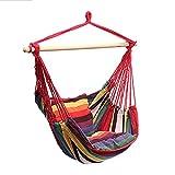 ErYao Outdoor Hammock Chair Patio Rope Hammock Chair Garden Swing Hanging Chair Hanging Rope Hammock Chair Swing Seat, 100 X 130cm (Multicolor)