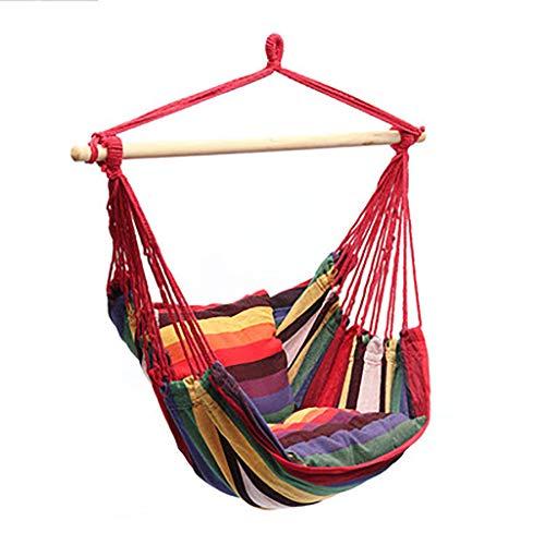 ErYao Outdoor Hammock Chair Patio Rope Hammock Chair Garden Swing Hanging Chair Hanging Rope Ham ...