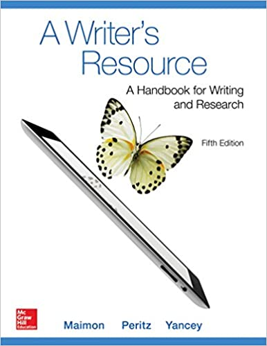 A Writers Resource Comb Version 5e With MLA Booklet 2016 5th Edition