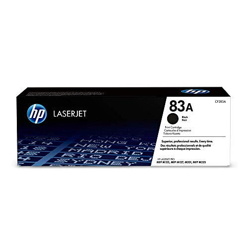 HP 83A (CF283A) Black Toner Cartridge for HP LaserJet Pro M201 M201dw M125 M127 M225dn M225dw