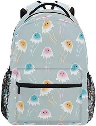 Vinlin Backpack Animal Cute Jellyfish,College School Shoulder Bag Travel Hiking Casual Daypack for Kids Girls Boys Woman Man