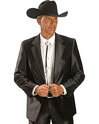 Circle S Men's Boise Western Suit Coat Big And Tall Black 50 R