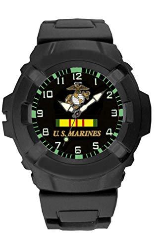 Marine Corps USMC Vietnam Veteran Rubber Strap Watch