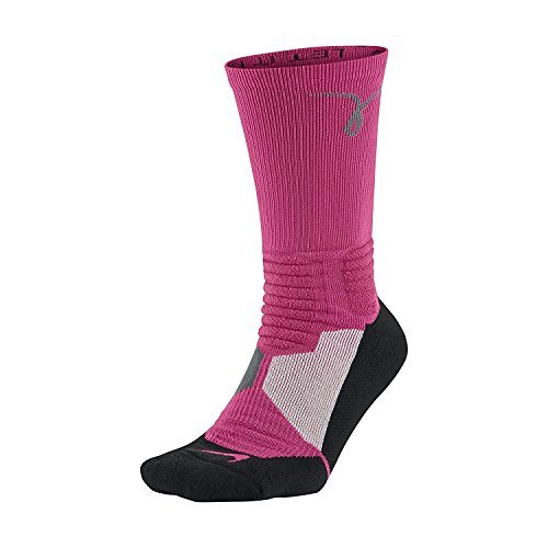 NIKE Hyper Elite Kay Yow Basketball Breast Cancer Awareness Crew Socks (SMALL)