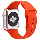 For Apple Watch Band,Goodidus Soft Silicone Fitness Replacement Sport Band for Apple Watch L Size(Orange 42MM)