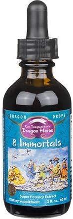 Dragon Herbs 8 Immortals Drops - 2 fl oz - Super-Premium Grade Cordyceps, Reishi Mushroom, Goji Berries, He Shou Wu, Schizandra, Snow Lotus, Rhodiola, Ginseng