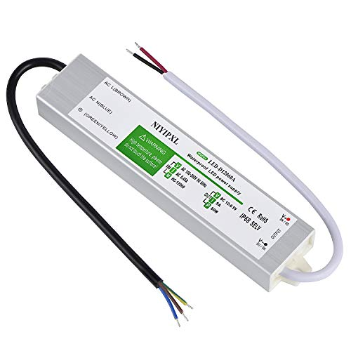 LED Driver 60 Watts Waterproof IP68 Power Supply Transformer Adapter 90V-260V AC to 12V DC Low Voltage Output for LED Light, Computer Project, Outdoor Light and any 12V DC led lights (Driver Led Supply Power)