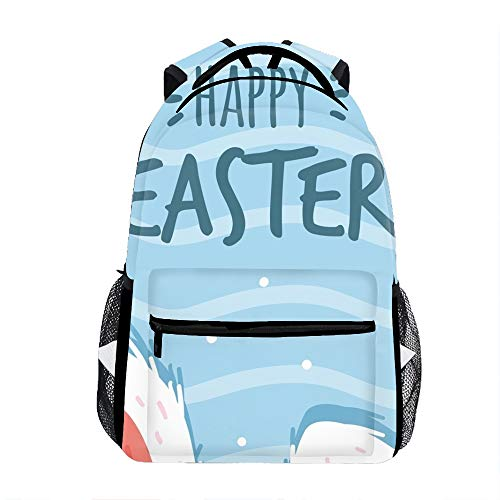 Lightweight Water Rabbit Easter School Backpack Waterproof Book Bag for Girls Teens -