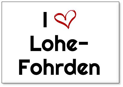 I Love Lohe-Fohrden, fridge magnet (design 1)