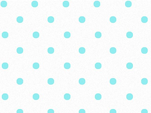 Aqua Dots on White Tissue Paper 240~20''x30'' Sheets Recycled (240 Sheets) - WRAPS-P1384 by Miller Supply, Inc.