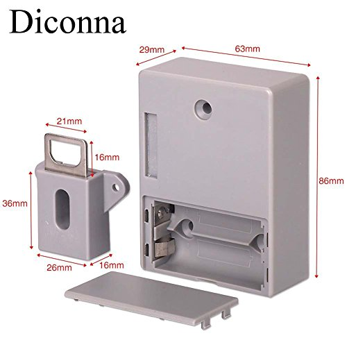 Diconna RFID Electronic Cabinet Lock Hidden DIY Lock Kit Set for Drawer Locker by Diconna (Image #5)