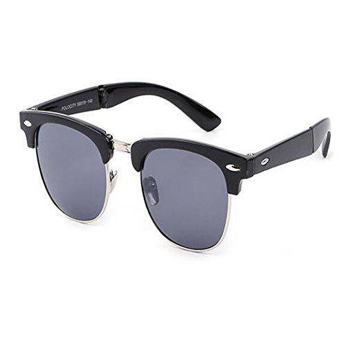 Portable soleil Charnière Mode Femme de UV pour et Rtero Cadre soleil Classique fatigue Hzjundasi C2 Anti de Lunettes Anti Homme Plier Des lunettes qXfvxdOw