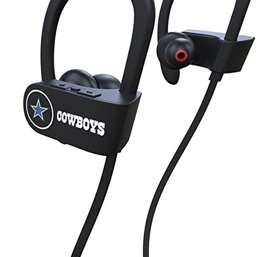 Stasis Athletics Stasis Energy REP Series: Dallas Cowboys Wireless, Sweat-Proof, Bluetooth Earbuds 10+ Hours of Battery (Matte Black)