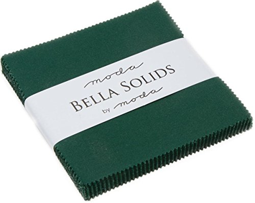 - Christmas Green Moda Bella Solids Charm Pack by Moda Fabrics; 42-5